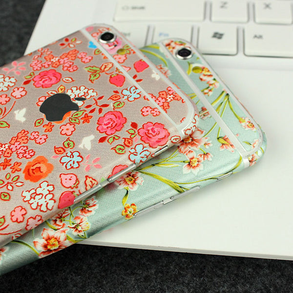 Peony Flowers Pattern Decal Wrap Skin Set iPhone 6s 6 / iPhone 6s 6 Plus - Mavasoap - 3