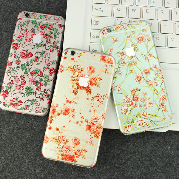 Peony Flowers Pattern Decal Wrap Skin Set iPhone 6s 6 / iPhone 6s 6 Plus - Mavasoap - 5