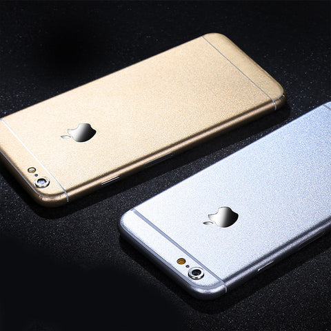 Aluminum Metal Layer Decal Wrap Skin Set iPhone 6s 6 / iPhone 6s 6 Plus - Mavasoap - 1