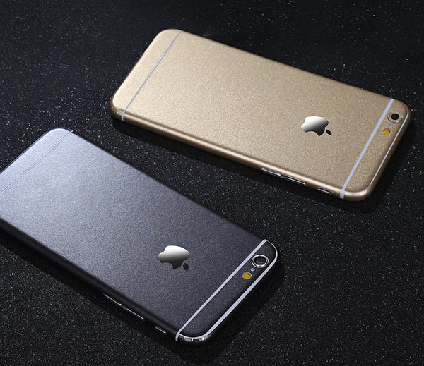 Aluminum Metal Layer Decal Wrap Skin Set iPhone 6s 6 / iPhone 6s 6 Plus - Mavasoap - 2