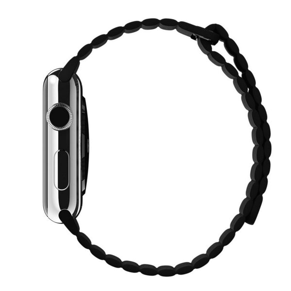 Apple Watch Black Leather Loop Band Strap - Mavasoap - 5