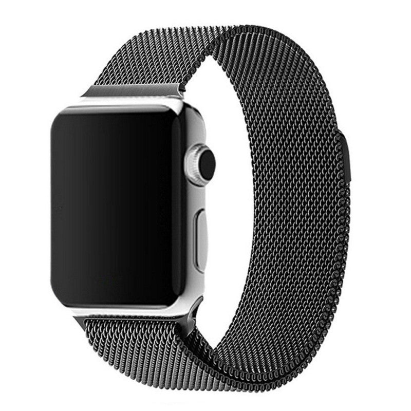Apple Watch Black Milanese Loop Band Strap - Mavasoap - 1