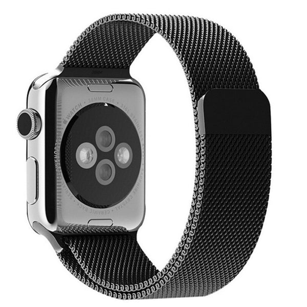 Apple Watch Black Milanese Loop Band Strap - Mavasoap - 2