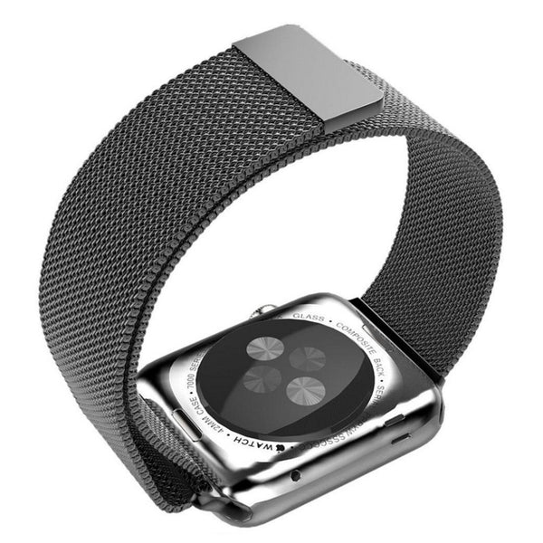 Apple Watch Black Milanese Loop Band Strap - Mavasoap - 3