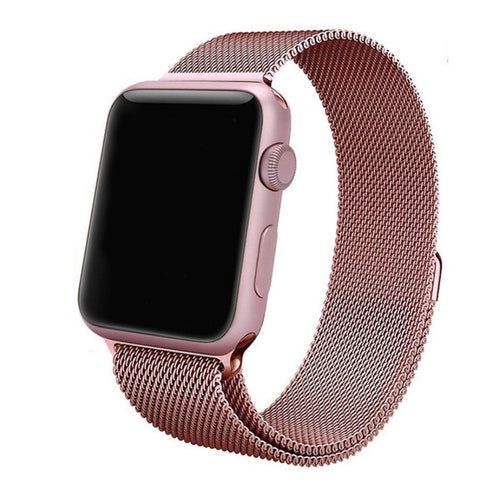 Apple Watch Rose Gold Milanese Loop Band Strap - Mavasoap - 1