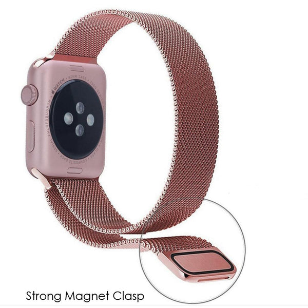 Apple Watch Rose Gold Milanese Loop Band Strap - Mavasoap - 3