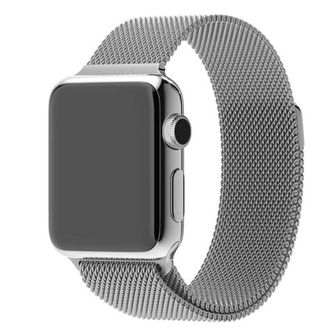 Apple Watch Silver Milanese Loop Band Strap - Mavasoap - 1