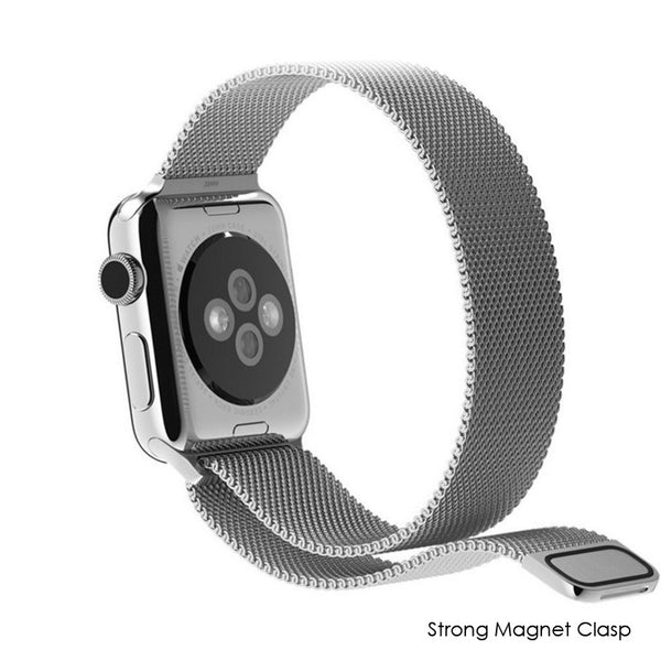 Apple Watch Black Milanese Loop Band Strap - Mavasoap - 5
