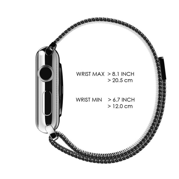 Apple Watch Black Milanese Loop Band Strap - Mavasoap - 6