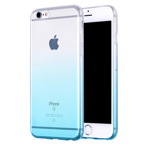 Aqua Gradient Transparent Soft Clear Case Back Cover for iPhone 6s 6 Plus SE 5s 5 - Mavasoap - 1