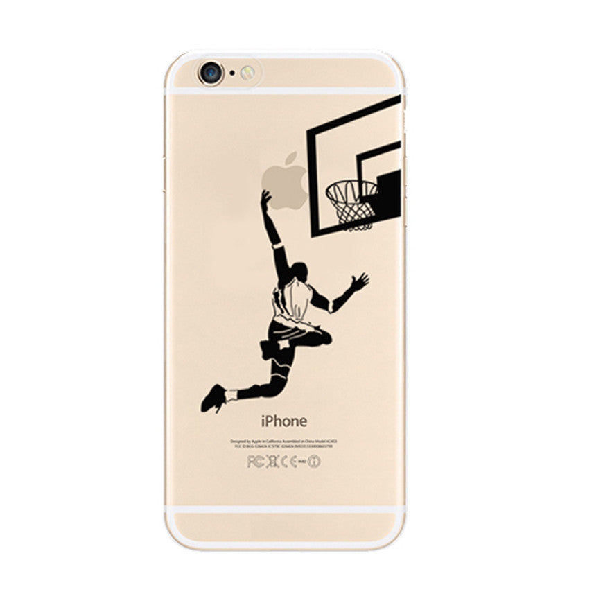 Basketball Slam Dunk iPhone 6s 6 Plus SE 5s 5 Soft Clear Case - Mavasoap