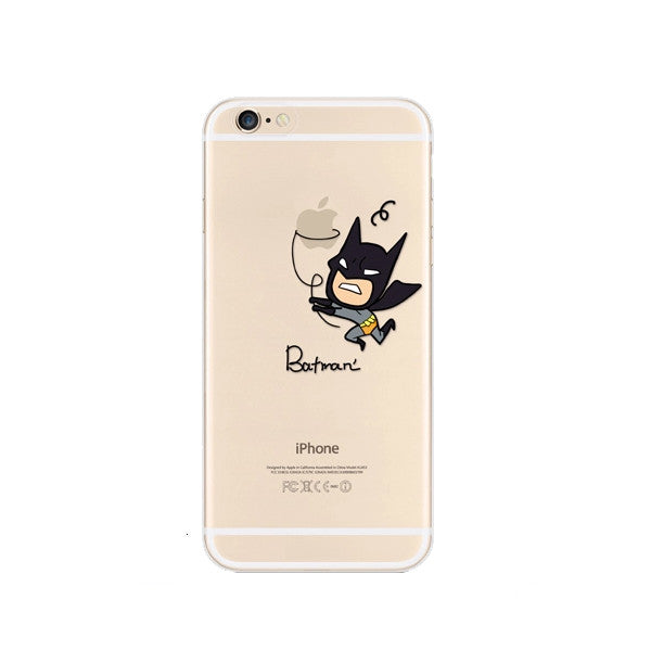best loved 9f12c bd74c Batman Catch Apple iPhone 6s 6 Plus SE 5s 5 Soft Clear Case