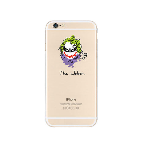 Batman Joker iPhone 6s 6 Plus SE 5s 5 Soft Clear Case - Mavasoap