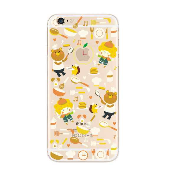 Bear Cooking iPhone 6s 6 Plus SE 5s 5 Soft Clear Case - Mavasoap - 1