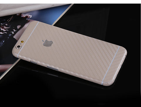 Beige Carbon Fiber Decal Wrap Skin Set iPhone 6s 6 / iPhone 6s 6 Plus - Mavasoap - 1