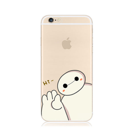 Baymax Big Hero 6 Six iPhone 6s 6 Plus SE 5s 5 Soft Clear Case - Mavasoap