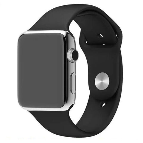 Apple Watch Black Sport Band Strap - Mavasoap - 1
