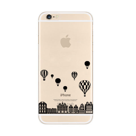 Black Balloon City iPhone 6s 6 Plus SE 5s 5 Soft Clear Case - Mavasoap