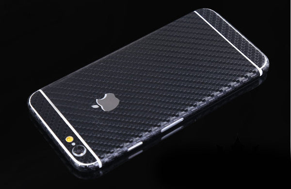Black Carbon Fiber Decal Wrap Skin Set iPhone 6s 6 / iPhone 6s 6 Plus - Mavasoap - 1