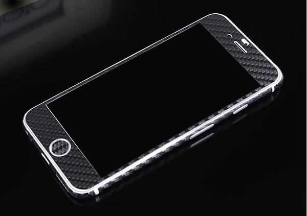 Black Carbon Fiber Decal Wrap Skin Set iPhone 6s 6 / iPhone 6s 6 Plus - Mavasoap - 2