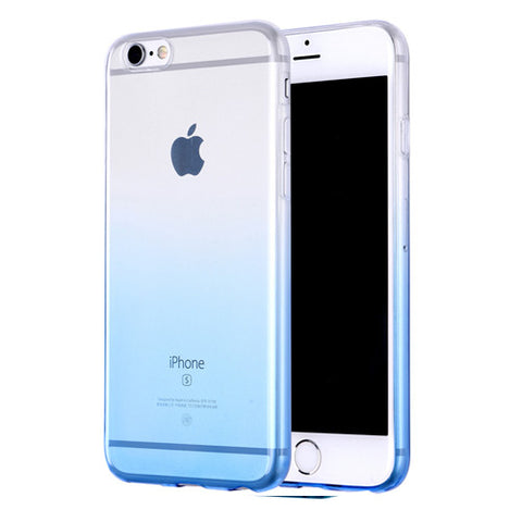 Blue Gradient Transparent Soft Clear Case Back Cover for iPhone 6s 6 Plus SE 5s 5 - Mavasoap - 1