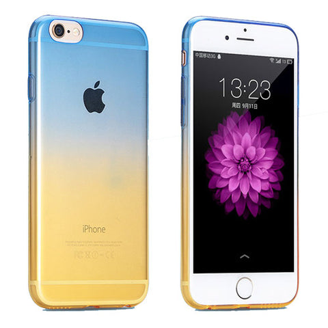 Blue to Yellow Gradient Soft Clear Case Back Cover for iPhone 6s 6 Plus SE 5s 5 - Mavasoap - 1