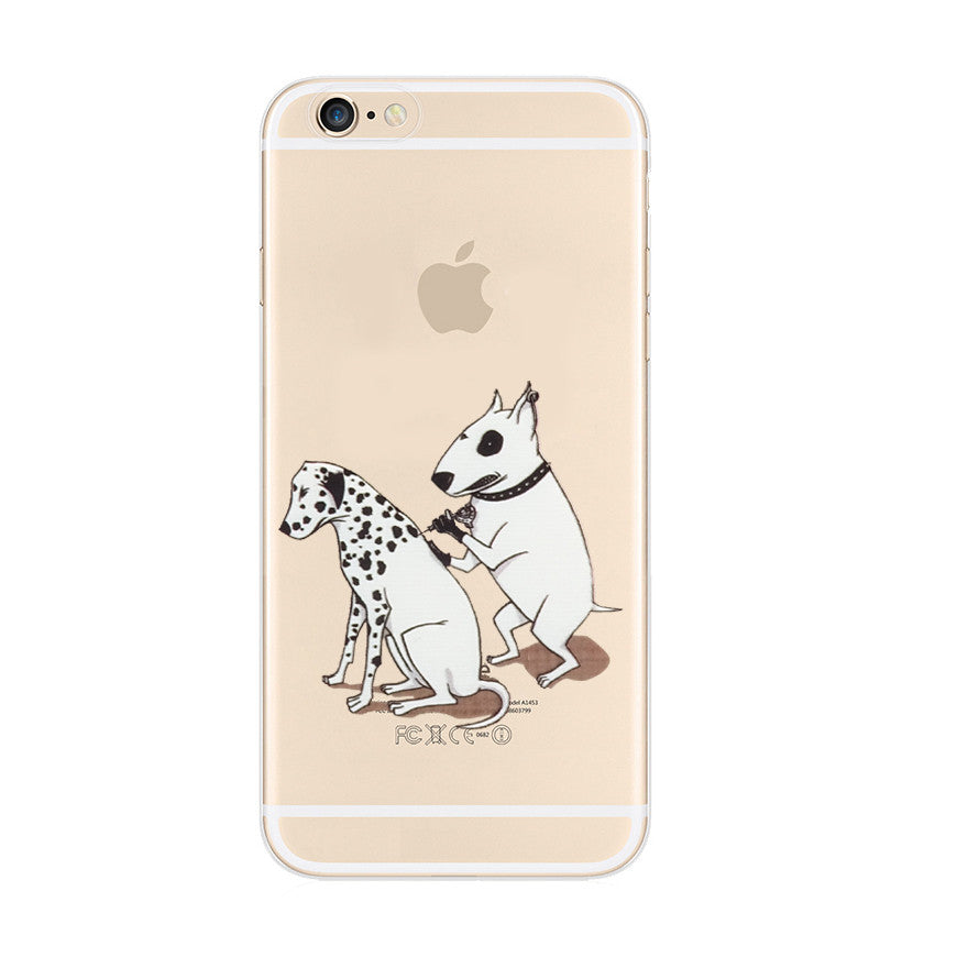 Bull Terrier Give an Injection Dalmatian Dog iPhone 6s 6 Plus Soft Clear Case - Mavasoap