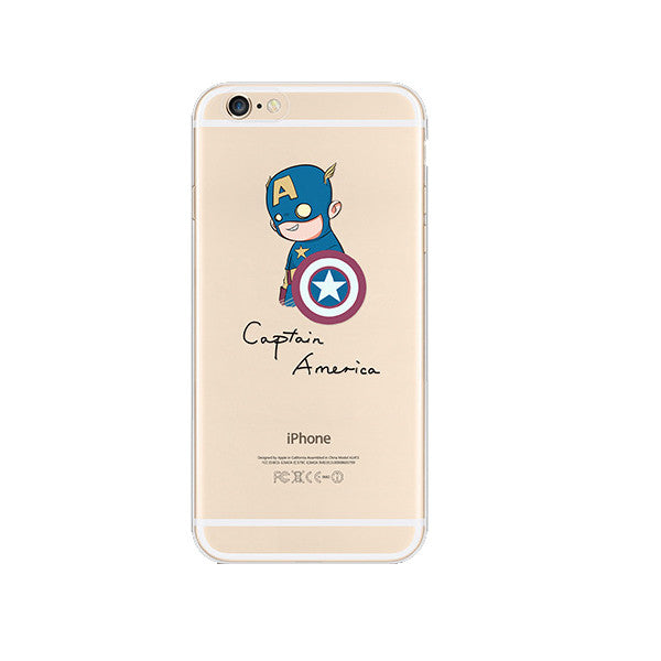 Captain America iPhone 6s 6 Plus SE 5s 5 Soft Clear Case - Mavasoap