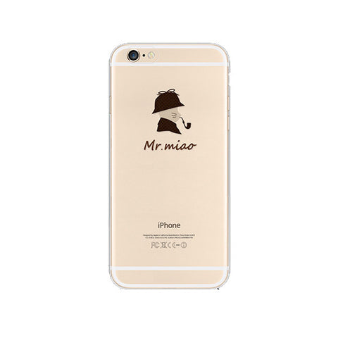 Cat Pipe iPhone 6s 6 Plus SE 5s 5 Soft Clear Case - Mavasoap