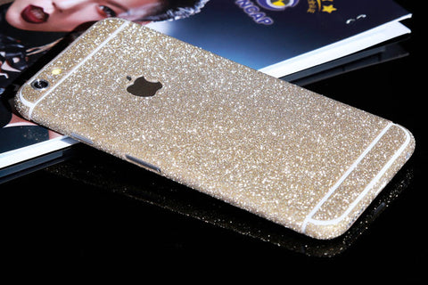Champagne Sparkle Glitter Decal Wrap Skin Set iPhone 6s 6 / iPhone 6s 6 Plus - Mavasoap - 1