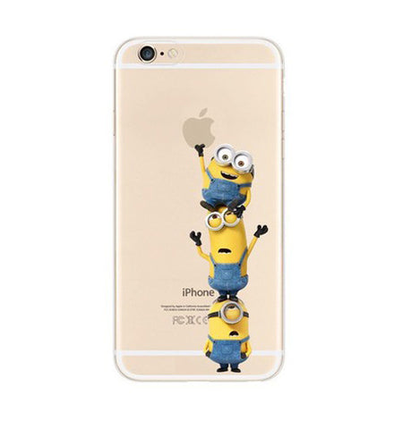Minions Climbing iPhone 6s 6 Plus SE 5s 5 Soft Clear Case - Mavasoap