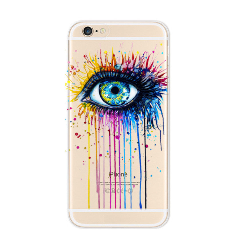 Colorful Eye iPhone 6s 6 Plus SE 5s 5 Soft Clear Case - Mavasoap