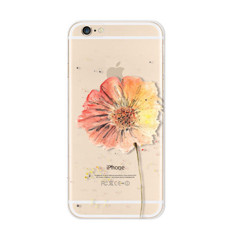 Colorful Flowers iPhone 6s 6 Plus SE 5s 5 Soft Clear Case - Mavasoap