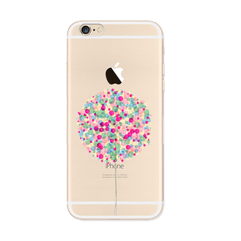 Colorful Spot Tree iPhone 6s 6 Plus SE 5s 5 Soft Clear Case - Mavasoap