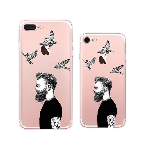 Cool Man iPhone 7 Soft Clear Cases