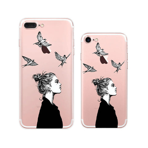 Cool Woman iPhone 7 Plus Soft Clear Cases