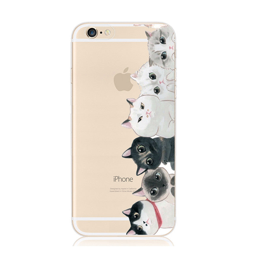 Cutie Cat iPhone 6s 6 Plus Soft Clear Case - Mavasoap