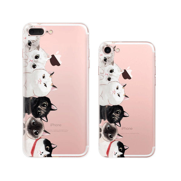 Cutie Cats iPhone 7 Plus Soft Clear Cases