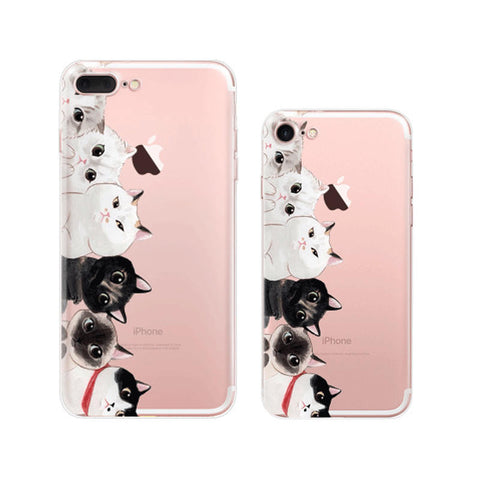 Cutie Cats iPhone 7 Soft Clear Cases