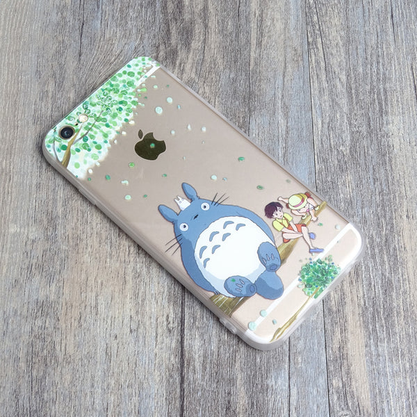 Totoro Tree with satsuki kusakabe iPhone 6s 6 Plus SE 5s 5 Soft Clear Case - Mavasoap - 2