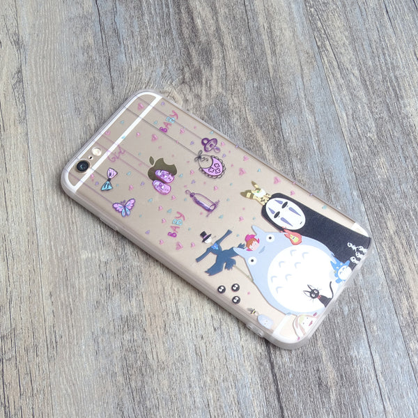 Totoro Chu Chibi No Face iPhone 6s 6 Plus Soft Clear Case - Mavasoap - 2