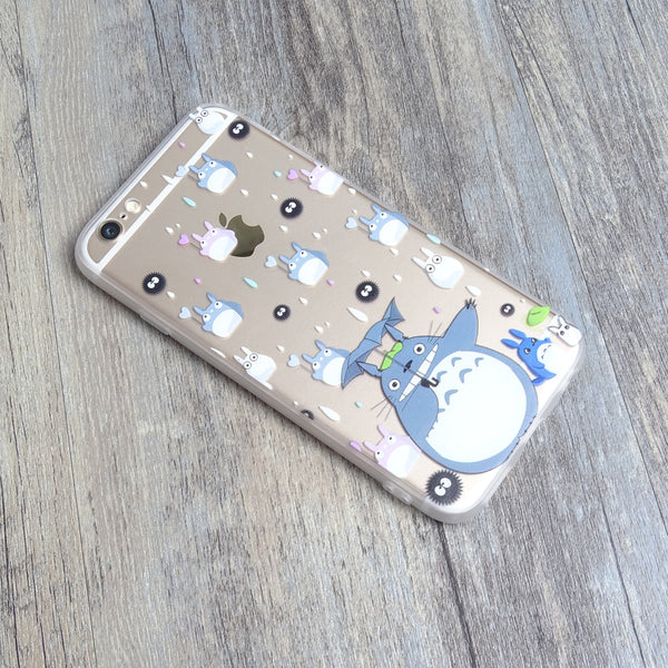 Totoro Chu Chibi Soot Raining iPhone 6s 6 Plus Soft Clear Case - Mavasoap - 2