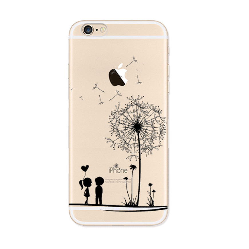Dandelion Blowing in the wind iPhone 6s 6 Plus SE 5s 5 Soft Clear Case - Mavasoap