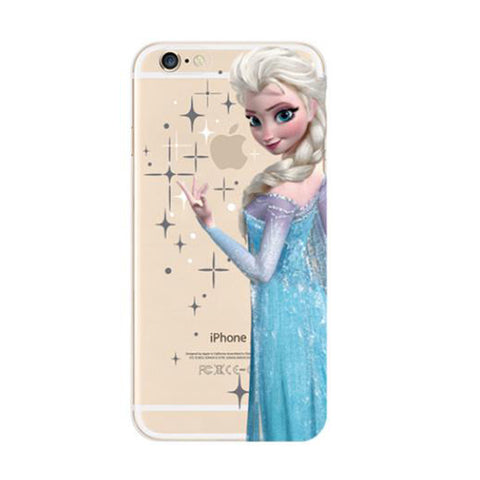 Disney Frozen Elsa iPhone 6s 6 Soft Clear Case - Mavasoap