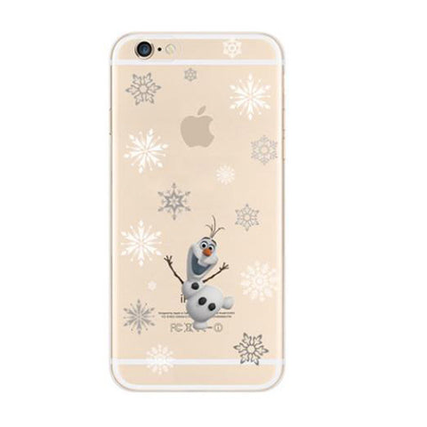 Disney Frozen Snowflakes iPhone 6s 6 Soft Clear Case - Mavasoap