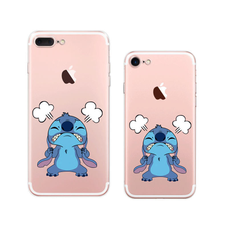 new arrival ce014 6480a Disney Lilo & Stitch Cartoon iPhone 7 Plus Soft Clear Cases