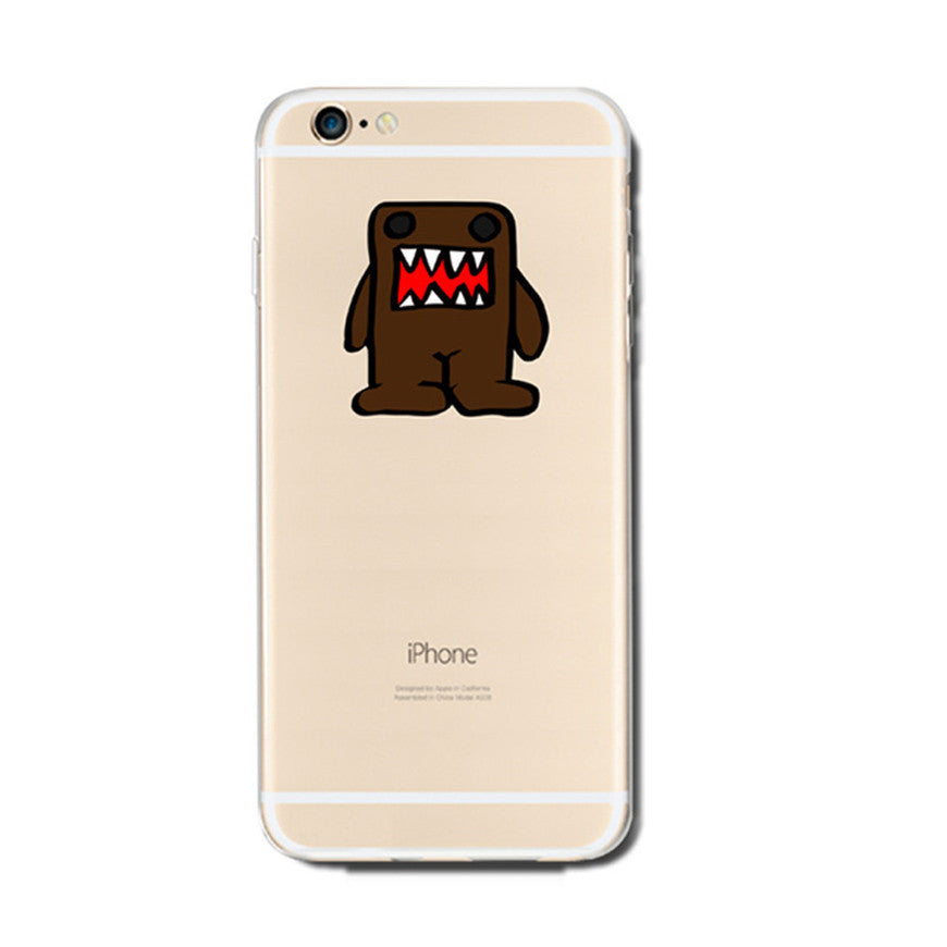 Domo Kun Monster iPhone 6s 6 Plus SE 5s 5 Soft Clear Case - Mavasoap