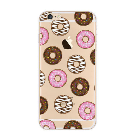 Donut Doughnut Pattern iPhone 6s 6 Plus SE 5s 5 Soft Clear Case - Mavasoap