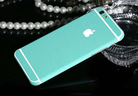 Frosted Aqua Sparkle Decal Wrap Skin Set iPhone 6s 6 / iPhone 6s 6 Plus - Mavasoap - 1