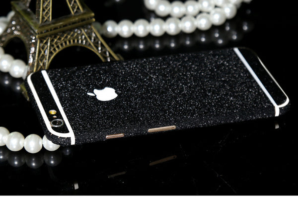 Frosted Black Sparkle Decal Wrap Skin Set iPhone 6s 6 / iPhone 6s 6 Plus - Mavasoap - 1